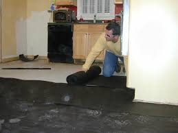 Best Tile For Basement Concrete Floor by How To Install A Base For A Concrete Floor How Tos Diy