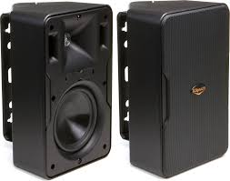 Noise Cancelling Backyard Speakers Klipsch Cp6 Black Outdoor Speakers At Crutchfield Com