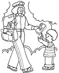 mailman hat coloring page mail carrier coloring pages page envelope mycosedesongles info