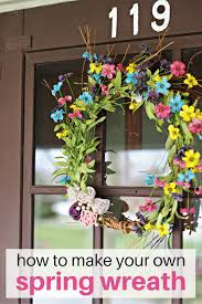 how to make your own spring wreath simple recipes diy tutorials