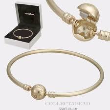 bangle bracelet ebay images Pandora 14k gold bangle w signature clasp 550713 17cm ebay jpg