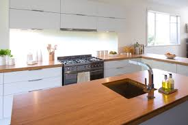 Kitchen Benchtop Ideas Get The Look 50mm Bamboo Benchtops Paired With Nougat Truffle