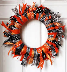 Halloween Wreath Easy Diy Halloween Wreath With Ribbons Mindy