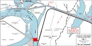 Navigation Map File Mcclellan U2013kerr Arkansas River Navigation System Pool 2