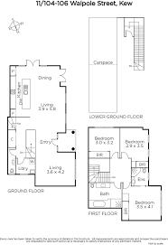shaughnessy floor plan 11 104 106 walpole street kew marshall white