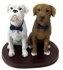 wedding cake topper with dog dogs as wedding cake toppers bobblegram