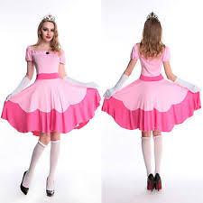 Tween Girls Mario Costume Princess Peach Costumes For Women Ebay