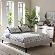 Amazon Fabric Bed Frames Bed Bedroom Furniture Affordable Modern Baxton Studio King 7