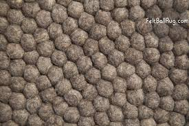 Rugs Round by Round Raw Earth Felt Ball Rug Round Rugs