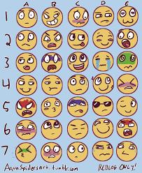 Expressions Meme - aquaspidersart i made my own facial expressions meme send
