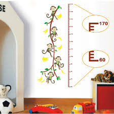 removable cute monkey tree height scale measurement for child kid removable cute monkey tree height scale measurement for child kid diy wall sticke art decals stickers