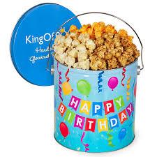 happy birthday popcorn tin by gourmetgiftbaskets
