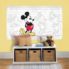 chambre enfant mickey sticker poster géant mural disney mickey mouse repositionnable