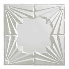 fasade ceiling tile 2x2 suspended art deco in gloss white