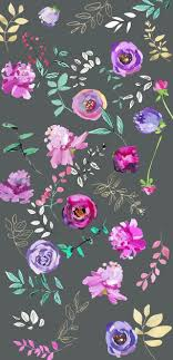 pink and grey pattern wallpaper grey floral pink purple iphone wallpapers pinterest pink