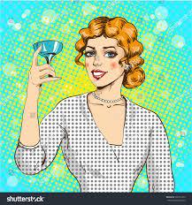 retro martini clip art vector illustration woman cocktail pop art stock vector 566751352