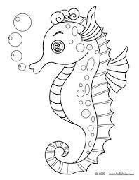 seahorse print color color seahorse coloring