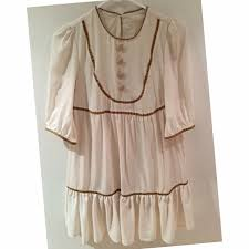 erin fetherston erin fetherston target cream baby doll dress