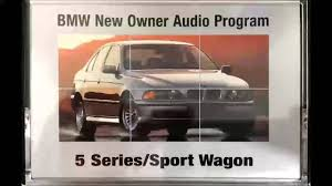 bmw new owner audio program 5 series e39 1999 youtube