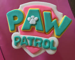 pink paw patrol inspired fondant cake topper paw patrol party