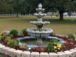 Water Fountains For Backyards by Landscaping With Water Fountains Ideas Planting Around Water