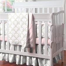 Pink And Brown Damask Crib Bedding Mini Crib Bedding Portable Crib Bedding Sets Carousel Designs