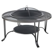 Mesh Patio Table by Uniflame Outdoor Wood Burning Fire Place Black Walmart Com