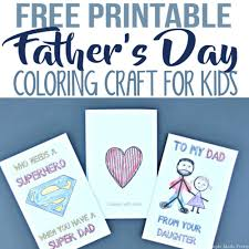 free printable father u0027s day greeting cards coloring craft for kids