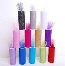 tulle spools tulle spools with confetti glitter