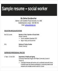 Sample Of Social Worker Resume by 25 Printable Work Resume Templates Free U0026 Premium Templates