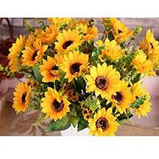 sunflower bouquet amyhomie artificial sunflower bouquet 7 flowers per