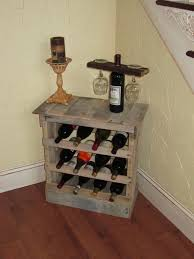 decorating hand made pallet wood 12 bottle as corner pallet wine