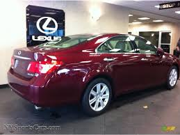 lexus metallic 2007 lexus es 350 in royal ruby red metallic photo 2 137430