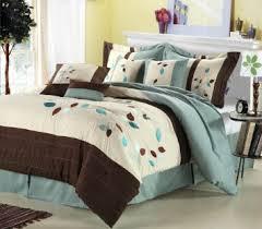 bedroom modern teal and brown bedding