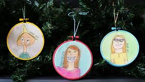 design dazzle kids self portrait ornaments holiday cheer