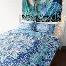 online shop bedding sets blue india mandala floral duvet cover set  with online shop bedding sets blue india mandala floral duvet cover set with  pillowcase bohemian bed sheets flower boho queen size bed linings   aliexpress  from maliexpresscom