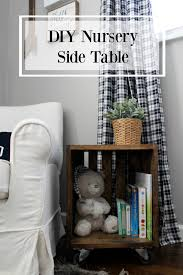 Nursery Side Table Wonderfully Made Diy Nursery Side Table