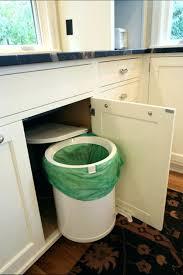 Green Kitchen Trash Can Cabinet Built In Trash Can Built In Trash Bin Cabinet Home