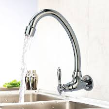wall mount single handle kitchen faucet wall mount kitchen faucet gooseneck rotatable single handle silver