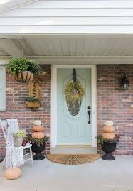 welcome to the fall front porch shades of blue interiors