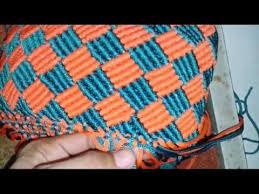 youtube cara membuat tas rajut dari tali kur tutorial membuat tas tali kur motif pagar youtube makrame