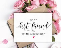 Wedding Wishes For Best Friend Best Friend Wedding Etsy