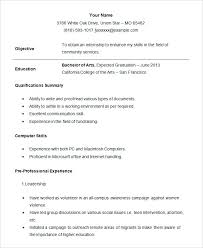 exle of resume for students high school student resume for college college sle resume student
