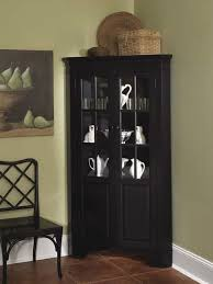 curio cabinet with light home styles corner curio cabinet with light black black corner