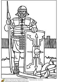 A colorier un légionnaire romain muni de sa lance  Roman Military