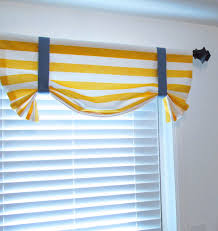 tie up valance horizontal stripes nautical themed room decor