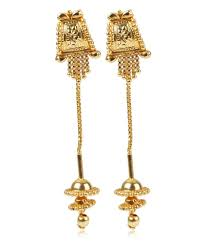 new fashion gold earrings gee sui dhaga gold earrings buy gee sui dhaga gold