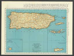 Maps Of Puerto Rico vintage map puerto rico from 1937 original