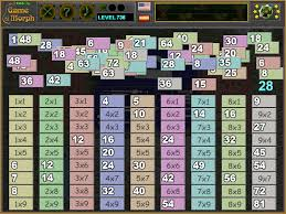 Multiplication Table Games by Multiplication Table Puzzle Online Math Game