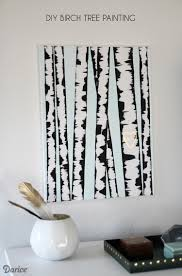 Wall Mural White Birch Trees Diy Wall Art Birch Tree Painting Tutorial Darice